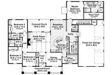 Craftsman Floor Plan - Main Floor Plan Plan #21-396