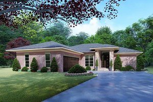 Home Plan - Mediterranean Exterior - Front Elevation Plan #923-124