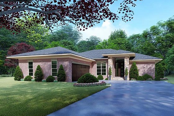 Mediterranean Exterior - Front Elevation Plan #923-124