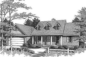 Home Plan Design - Colonial Exterior - Front Elevation Plan #14-139