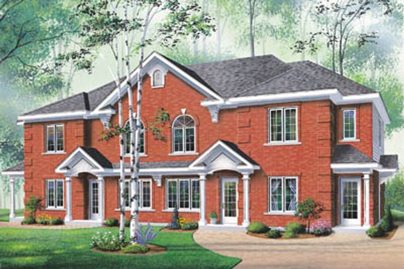 Home Plan Design - Colonial Exterior - Front Elevation Plan #23-2055