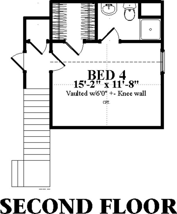 Ranch Floor Plan - Upper Floor Plan Plan #63-414