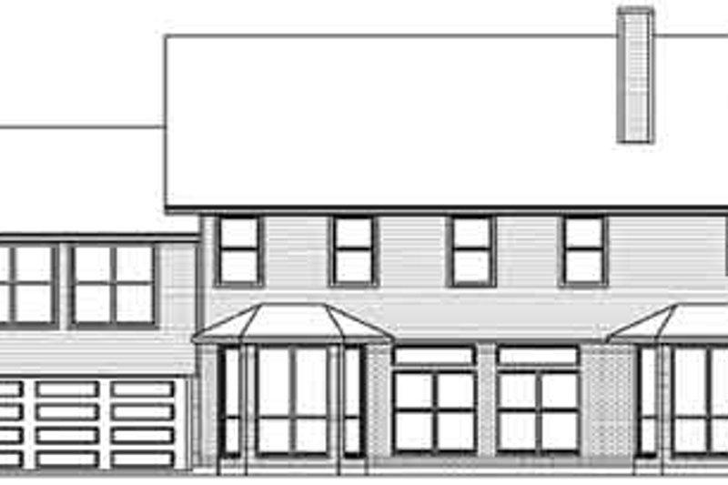 Country Exterior - Rear Elevation Plan #84-239 - Houseplans.com