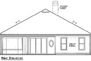 Mediterranean Style House Plan - 4 Beds 3 Baths 2447 Sq/Ft Plan #417-267 Exterior - Rear Elevation