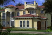 Mediterranean Style House Plan - 6 Beds 7.5 Baths 6784 Sq/Ft Plan #420-248 Exterior - Other Elevation