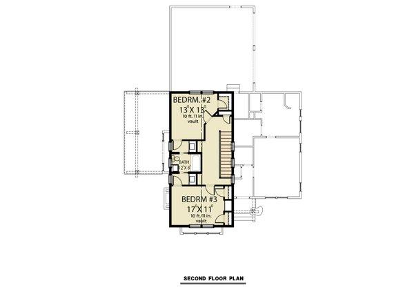 Architectural House Design - Farmhouse Floor Plan - Upper Floor Plan #1070-151