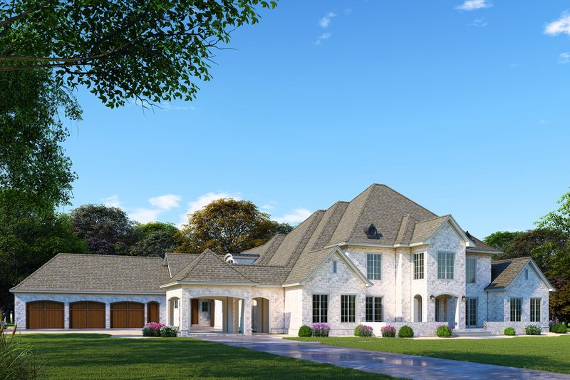 European Exterior - Front Elevation Plan #923-98