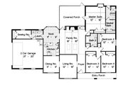 Traditional Style House Plan - 4 Beds 2 Baths 2173 Sq/Ft Plan #417-209 Floor Plan - Main Floor Plan