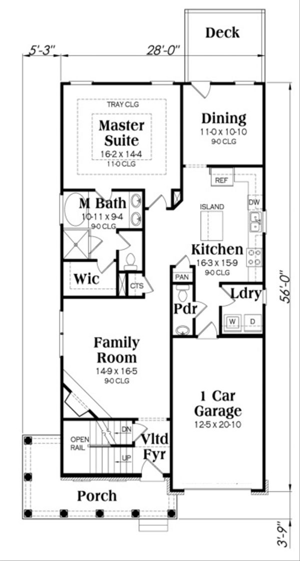 Traditional Floor Plan - Main Floor Plan Plan #419-243
