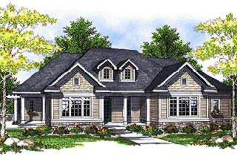 Traditional Style House Plan - 3 Beds 2 Baths 1774 Sq/Ft Plan #70-679 Exterior - Front Elevation