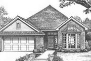 Traditional Style House Plan - 2 Beds 2 Baths 1758 Sq/Ft Plan #310-405 Exterior - Front Elevation