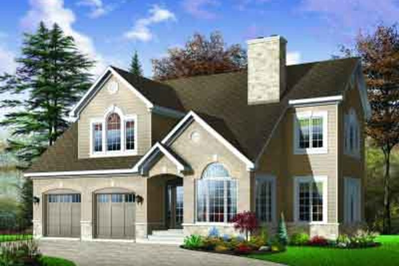Traditional Exterior - Front Elevation Plan #23-545 - Houseplans.com