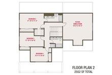 Craftsman Floor Plan - Upper Floor Plan Plan #461-70