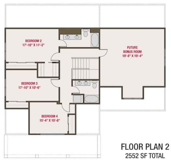 Craftsman Floor Plan - Upper Floor Plan Plan #461-70