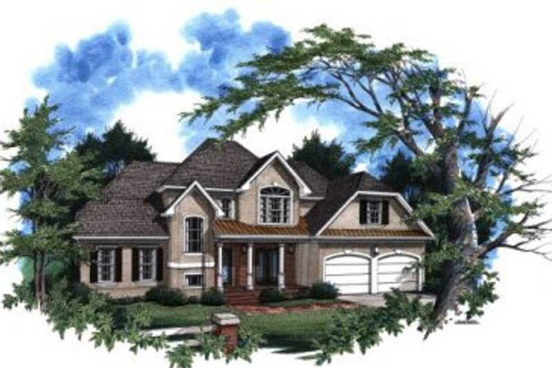 Traditional Exterior - Front Elevation Plan #41-139 - Houseplans.com