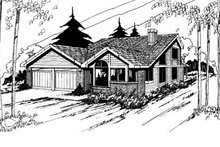 Home Plan Design - Traditional Exterior - Front Elevation Plan #60-115
