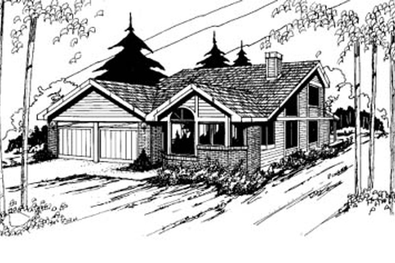 Traditional Exterior - Front Elevation Plan #60-115 - Houseplans.com