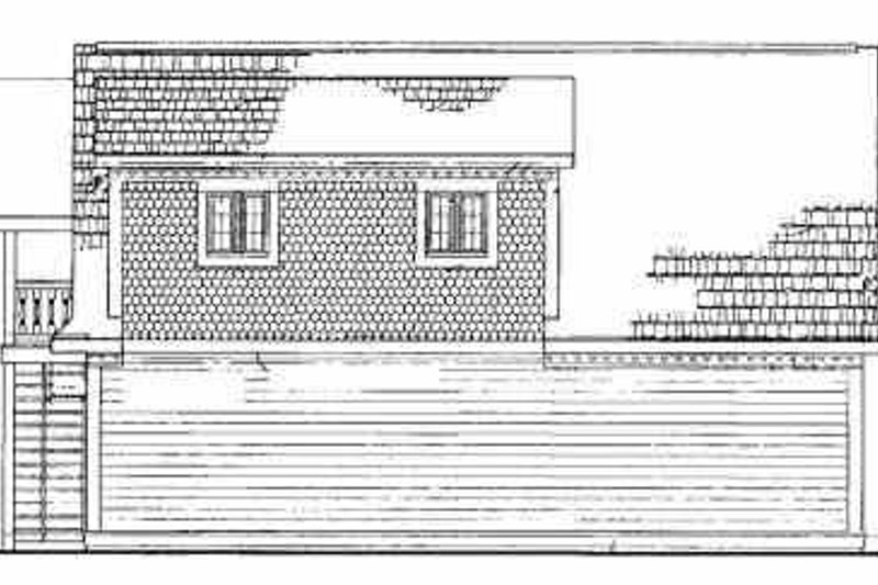 Country Exterior - Rear Elevation Plan #72-288 - Houseplans.com