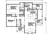 Cottage Style House Plan - 2 Beds 2 Baths 1243 Sq/Ft Plan #22-592