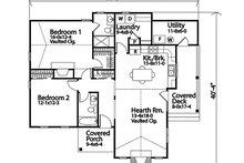 Dream House Plan - Cottage Exterior - Front Elevation Plan #22-592