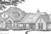 European Style House Plan - 4 Beds 3.5 Baths 3070 Sq/Ft Plan #310-324 Exterior - Front Elevation