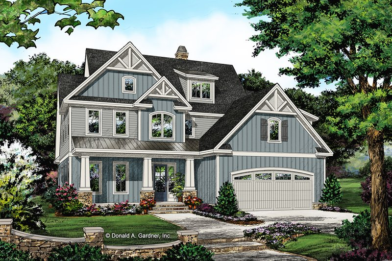Architectural House Design - Craftsman Exterior - Front Elevation Plan #929-1061
