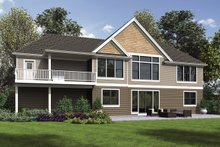 Dream House Plan - Craftsman Exterior - Rear Elevation Plan #48-970