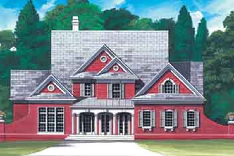 Home Plan - Colonial Exterior - Front Elevation Plan #119-160