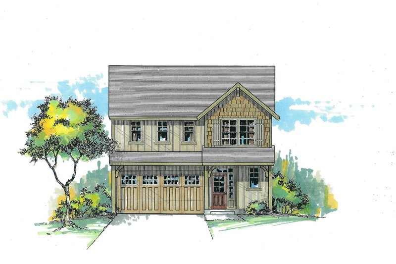 Craftsman Exterior - Front Elevation Plan #53-586