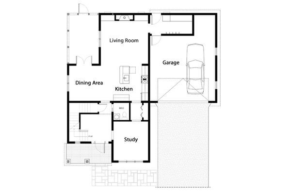 Traditional Floor Plan - Main Floor Plan Plan #497-43