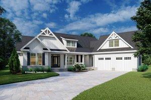 House Blueprint - Farmhouse Exterior - Front Elevation Plan #929-1130