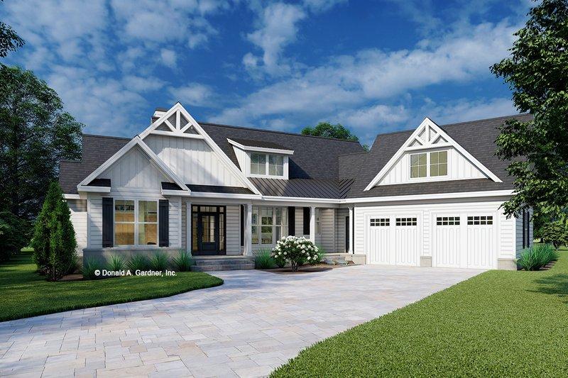 Architectural House Design - Farmhouse Exterior - Front Elevation Plan #929-1130
