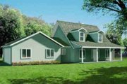 Traditional Style House Plan - 3 Beds 2.5 Baths 1947 Sq/Ft Plan #1-1373 Exterior - Front Elevation