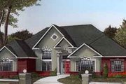 European Style House Plan - 3 Beds 2 Baths 2615 Sq/Ft Plan #11-115 Exterior - Front Elevation