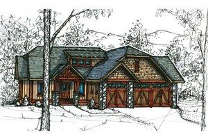 Craftsman Exterior - Front Elevation Plan #921-20