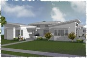Modern Style House Plan - 3 Beds 2.5 Baths 2749 Sq/Ft Plan #48-497 Exterior - Front Elevation
