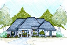 Home Plan - European Exterior - Front Elevation Plan #36-486