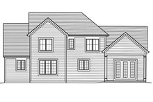 House Plan Design - Traditional Exterior - Rear Elevation Plan #46-873