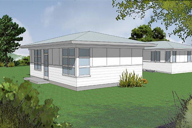 Home Plan - Modern Exterior - Front Elevation Plan #48-473