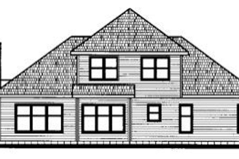 Traditional Exterior - Rear Elevation Plan #20-693 - Houseplans.com