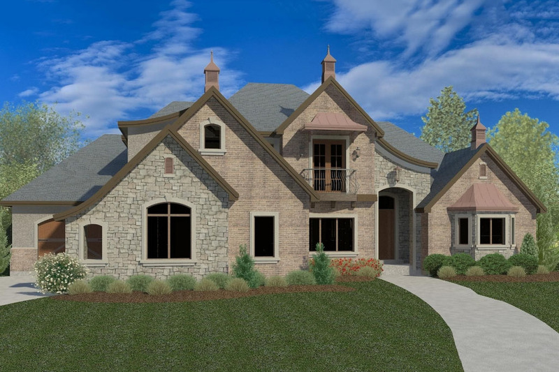 European Style House Plan - 5 Beds 3.5 Baths 5286 Sq/Ft Plan #920-12 Exterior - Front Elevation