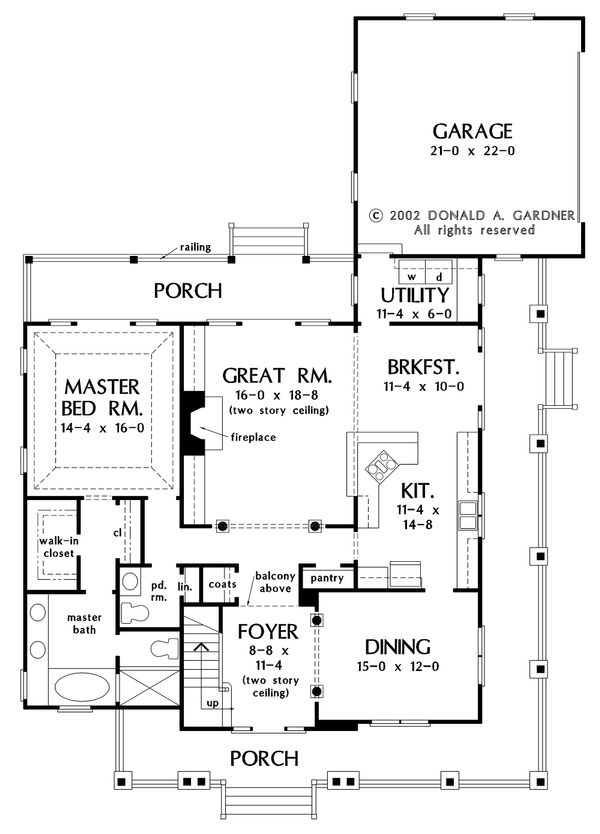 Architectural House Design - Country Floor Plan - Main Floor Plan #929-19