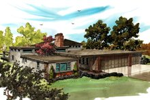 Home Plan - Contemporary Exterior - Front Elevation Plan #942-49