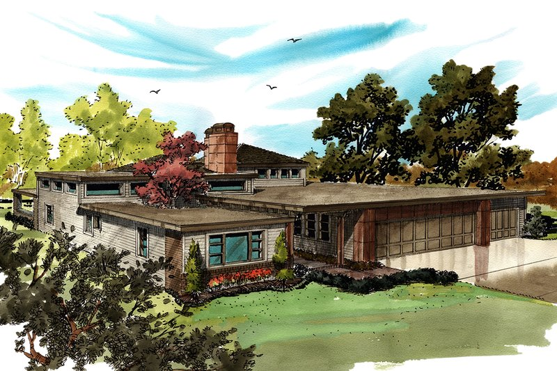 Architectural House Design - Contemporary Exterior - Front Elevation Plan #942-49