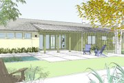 Ranch Style House Plan - 3 Beds 2.5 Baths 2254 Sq/Ft Plan #445-1 Exterior - Front Elevation