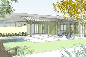 Ranch Exterior - Front Elevation Plan #445-1