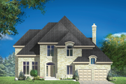 European Style House Plan - 3 Beds 2 Baths 2983 Sq/Ft Plan #25-4856 Exterior - Front Elevation