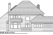European Style House Plan - 4 Beds 3.5 Baths 2978 Sq/Ft Plan #70-938 Exterior - Rear Elevation
