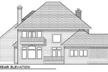 Architectural House Design - European Exterior - Rear Elevation Plan #70-938