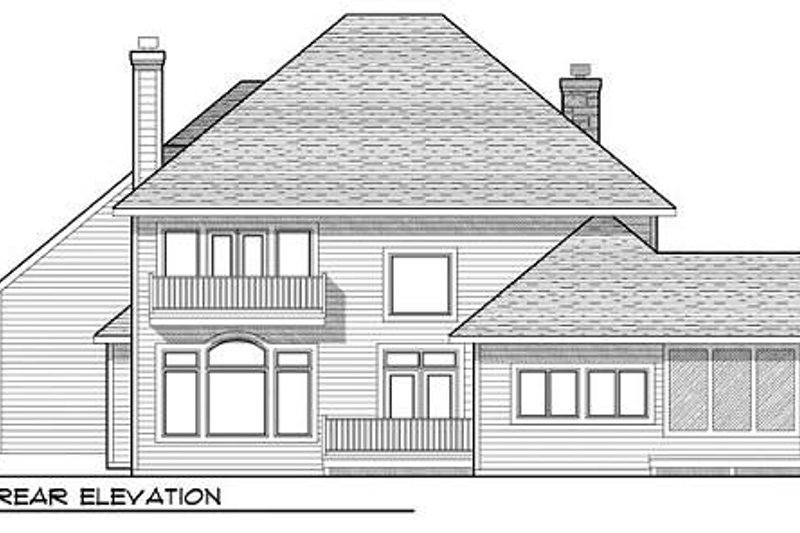 European Exterior - Rear Elevation Plan #70-938 - Houseplans.com